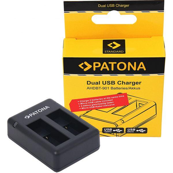 Двойно USB зарядно за GoPro 9